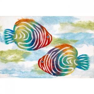 Rainbow Fish Indoor Outdoor Rug