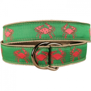 Belted Crab Pink D Ring Belt