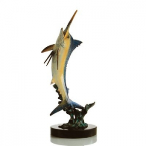 Excited Blue (Marlin) Statue Set Of 2
