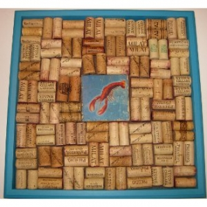 Lobster Wine Cork Bulletin Board