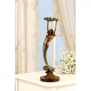 Mermaid with Tray Brass Sculpture