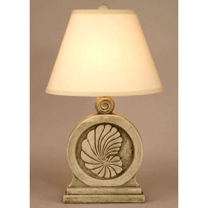 Framed Nautilus Shell Lamp