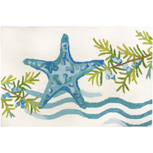 Ocean Tide Starfish Accent Rug