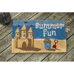 Summer Fun Handwoven Coconut Fiber Doormat