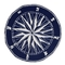 Liora Manne Frontporch Compass Indoor/Outdoor Rug - Navy, 5' Rd