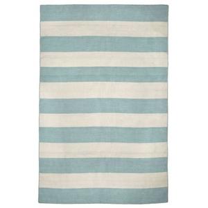 "Liora Manne Sorrento Rugby Stripe Indoor/Outdoor Rug - Blue, 8'3"" By 11'6"""