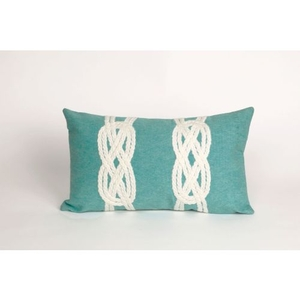 """Liora Manne Visions Ii Double Knot Indoor/Outdoor Pillow - Blue, 12"""" By 20"""""""