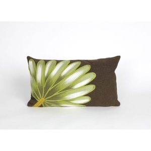 "Liora Manne Visions Ii Palm Fan Indoor/Outdoor Pillow - Brown, 12"" By 20"""