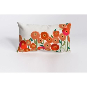"""Liora Manne Visions Iii Poppies Indoor/Outdoor Pillow - Red, 12"""" By 20"""""""