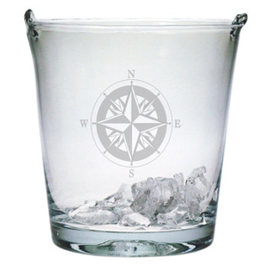 Compass Etched Ice Bucket