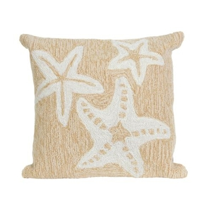 "Liora Manne Frontporch Starfish Indoor/Outdoor Pillow - Natural, 18"" Square"