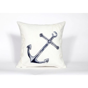 """Liora Manne Visions Ii Marina Indoor/Outdoor Pillow - White, 20"""" Square"""