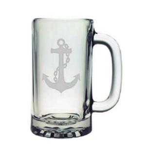 Anchor Etched Sports Beer Mug Set
