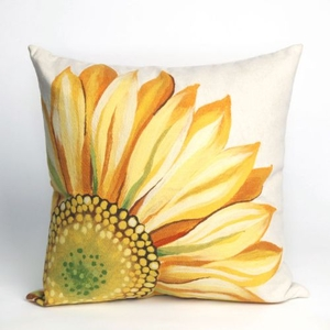 """Liora Manne Visions Iii Sunflower Indoor/Outdoor Pillow - Yellow, 20"""" Square"""