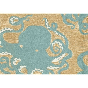 "Liora Manne Frontporch Octopus Indoor/Outdoor Rug - Blue, 20"" by 30"""