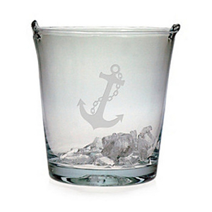 Anchor Etched Ice Bucket