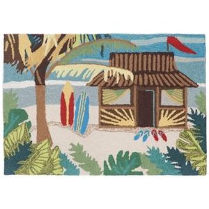 """Liora Manne Frontporch Tiki Hut Indoor/Outdoor Rug - Multi, 20"""" By 30"""""""