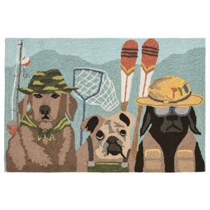 "Liora Manne Frontporch Fishing Patrol Indoor/Outdoor Rug - Multi, 20"" By 30"""