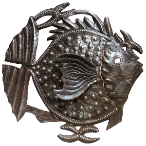 Fin Fish Metal  Sculpture