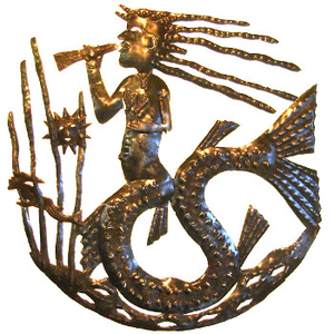 Mermaid With Trumpet Sculpture
