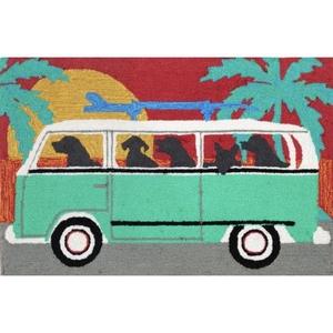 """Liora Manne Frontporch Beach Trip Indoor/Outdoor Rug - Blue, 24"""" By 36"""""""