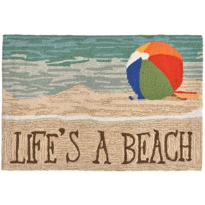 "Liora Manne Frontporch Life'S A Beach Indoor/Outdoor Rug - Multi, 24"" By 36"""