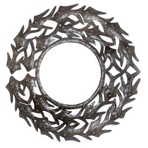 School Of Fish Metal Mirror