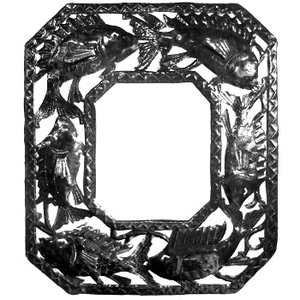 Octagonal Fish Mirror