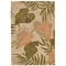 """Liora Manne Ravella Tropical Leaf Indoor/Outdoor Rug - Natural, 24"""" By 36"""""""