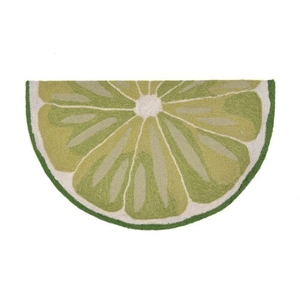 """Liora Manne Frontporch Lime Slice Indoor/Outdoor Rug - Green, 24"""" by 36"""" 1/2 RD"""