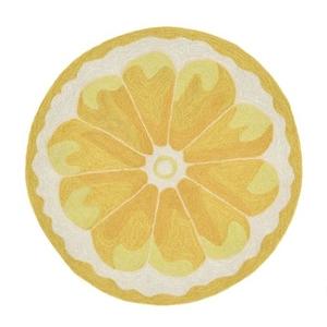 Liora Manne Frontporch Lemon Slice Indoor/Outdoor Rug - Yellow, 3' Rd