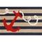 """Liora Manne Frontporch Anchor Indoor/Outdoor Rug - Navy, 30"""" By 48"""""""