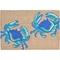 """Liora Manne Frontporch Crabs Indoor/Outdoor Rug - Blue, 30"""" By 48"""""""