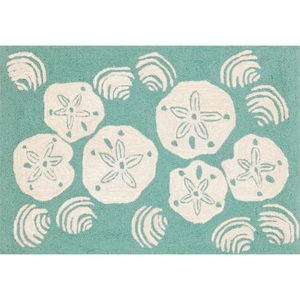 "Liora Manne Frontporch Shell Toss Indoor/Outdoor Rug - Blue, 30"" by 48"""