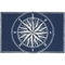 "Liora Manne Frontporch Compass Indoor/Outdoor Rug - Navy, 30"" By 48"""