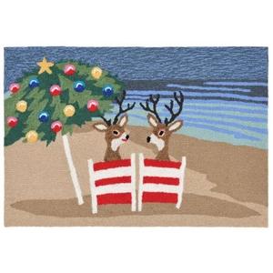 "Liora Manne Frontporch Coastal Christmas Indoor/Outdoor Rug - Multi, 30"" By 48"""