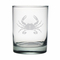 Personalized Crab Etched Dor Glass Set