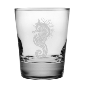 Seahorse Etched DOF Glass Set