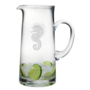 Seahorse Etched Tankard Pitcher