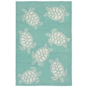 "Liora Manne Capri Turtle Indoor/Outdoor Rug - Blue, 42"" by 66"""
