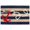 "Liora Manne Frontporch Anchor Indoor/Outdoor Rug - Navy, 42"" By 66"""