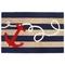 """Liora Manne Frontporch Anchor Indoor/Outdoor Rug - Navy, 5' By 7'6"""""""