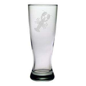 Lobster Etched Grand Pilsner Glass Set