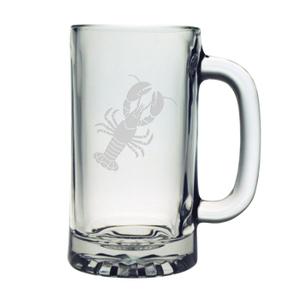Lobster Etched Sports Beer Mug Set