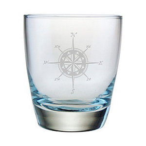 Compass Etched Dof Glass Set