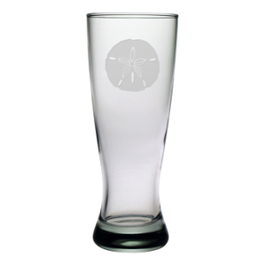 Sand Dollar Etched Grand Pilsner Glass Set