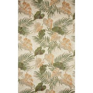 """Liora Manne Ravella Tropical Leaf Indoor/Outdoor Rug - Natural, 7'6"""" By 9'6"""""""
