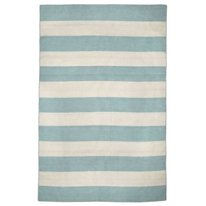 "Liora Manne Sorrento Rugby Stripe Indoor/Outdoor Rug - Blue, 7'6"" By 9'6"""