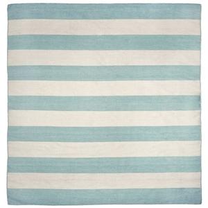 Liora Manne Sorrento Rugby Stripe Indoor/Outdoor Rug - Blue, 8' By 8'