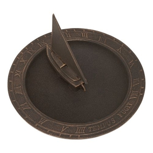 Sailboat Sundial Birdbath, Oil Rub Bronze